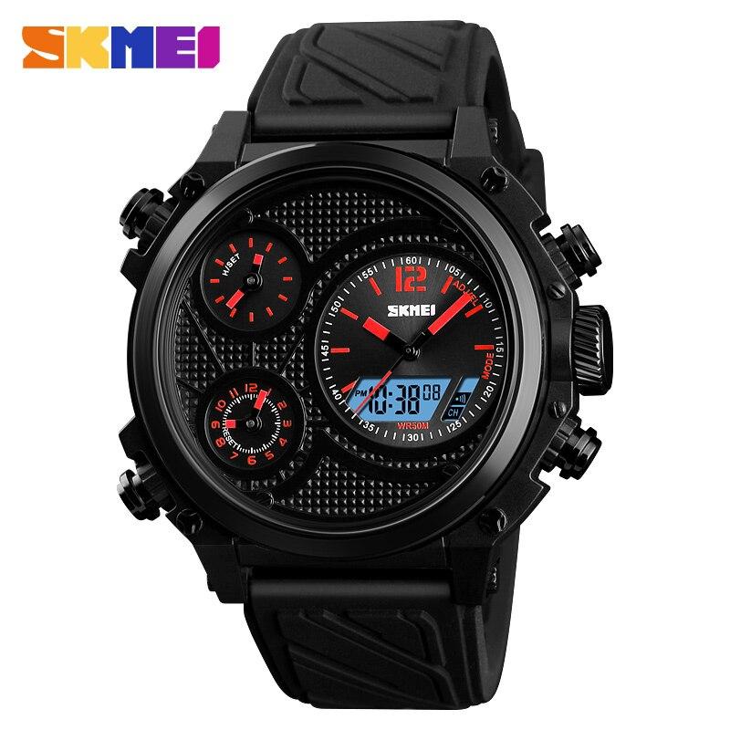 Men Sports Quartz Analog LED Digital Clock Man Military Waterproof Watch  2018