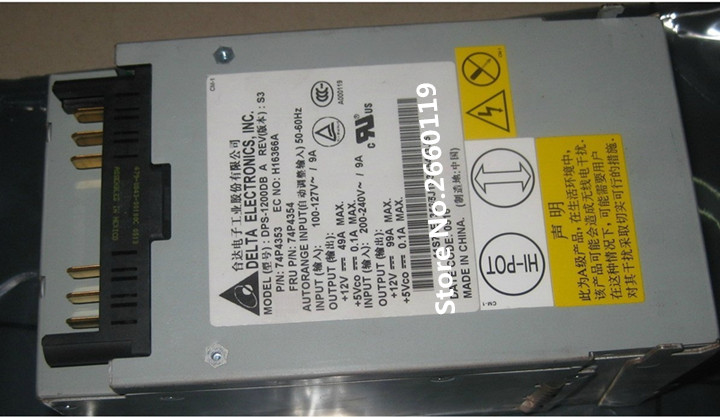 Power supply for X445 74P4354 74P4353 DPS-1200DB A 1200W working well