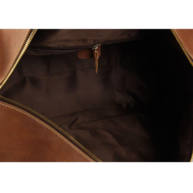 ROCKCOW Largeanta super e madhe e natës Leater gjatë natës Duffle - Valixhe dhe çanta udhëtimi - Foto 5