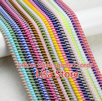 Free EMS DHL 500pcs 140cm Triple Colors Spring Protective sleeve Mobile Tablet Spiral Cord Protector for Charger Earphone Cords