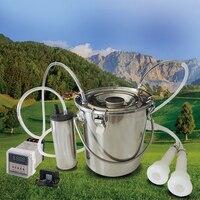 5L Electric Milking Machine for Cattle Goat Stainless steel Milker Vacuum Pump Bucket 220V Milking Machines Farm Livestock tool