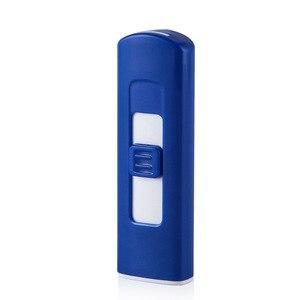 Image 5 - Nieuwe Strip Aansteker USB Oplaadbare Elektronische Aansteker Dunne Sigaret Winddicht Aansteker Sigaar Plasma Vlamloze Double Side