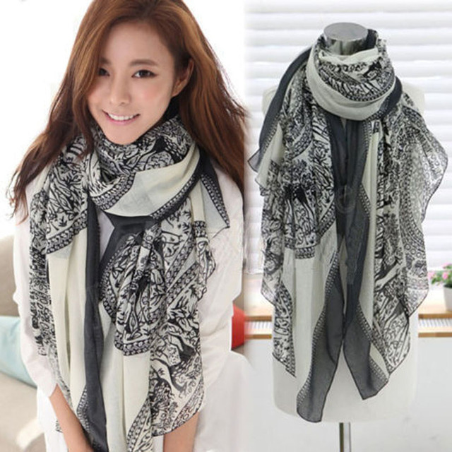 2f33cb254771f 100% Brand New High Quality Womens Ladies Long Soft Deer pattern Scarf Wrap  Large Winter Shawl Stole Scarves High Quality