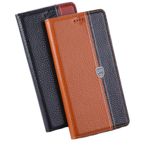 For Sony Xperia C5 Case Cover Litchi Grain Flip Genuine Leather Case Cover For Sony C5