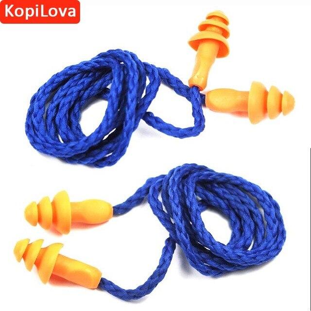 34e4561c6c6f5 KopiLova Ear Plugs Com Corda Proteção Auditiva Estudando redutor de Ruído  Protetor Auricular Anti Ruído Para