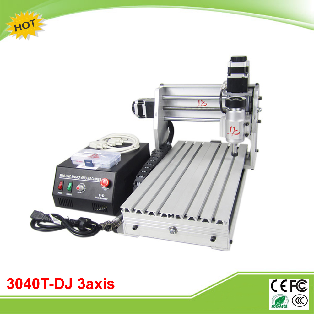CNC 3040T-DJ 3 axis 230W mini CNC milling machine with linear bearings free tax to RU free shipping high precision easson gs11 linear wire encoder 850mm 1micron optical linear scale for milling machine cnc