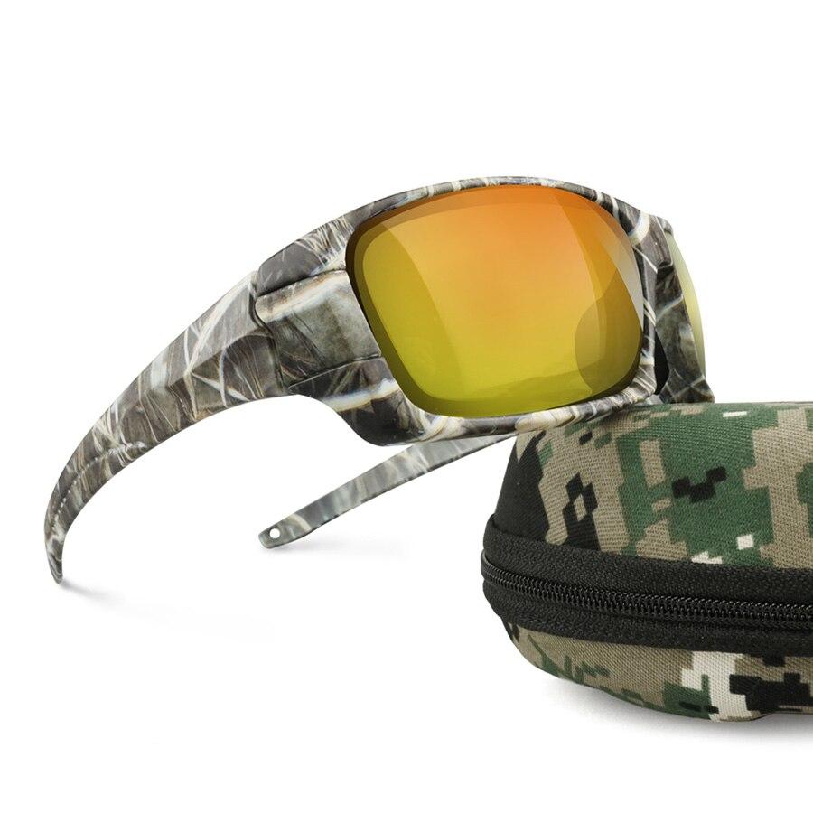 NEWBOLER Polarisierte Fischerei Sonnenbrille Camouflage Rahmen Sport Sonnenbrille Angeln Brillen Oculos De Sol Masculino Nacht Version