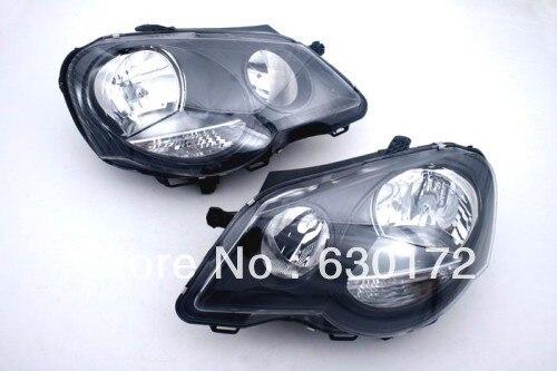 GTI Smoke Headlight For VW Volkswagen Polo 9N3 for volkswagen polo mk5 vento cross polo led head lamp headlights 2010 2014 year r8 style sn