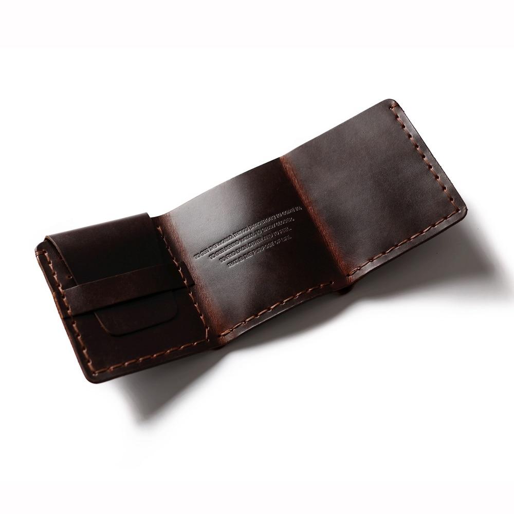 Äkta läder plånbok män Det hemliga livet av Walter Mitty Cow - Plånböcker - Foto 4