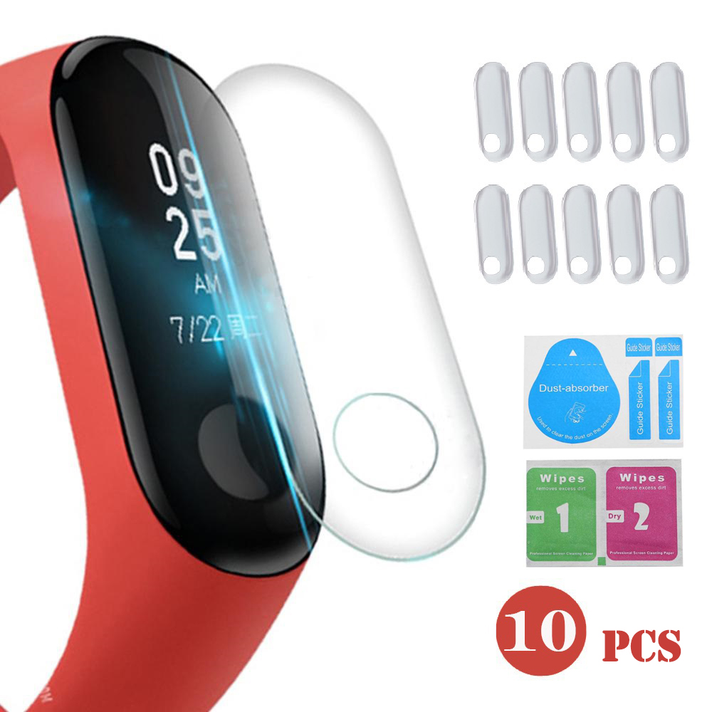 elenxs 10Pcs Screen Protector For Xiaomi Mi Band 3 Smart Wristband Bracelet Full