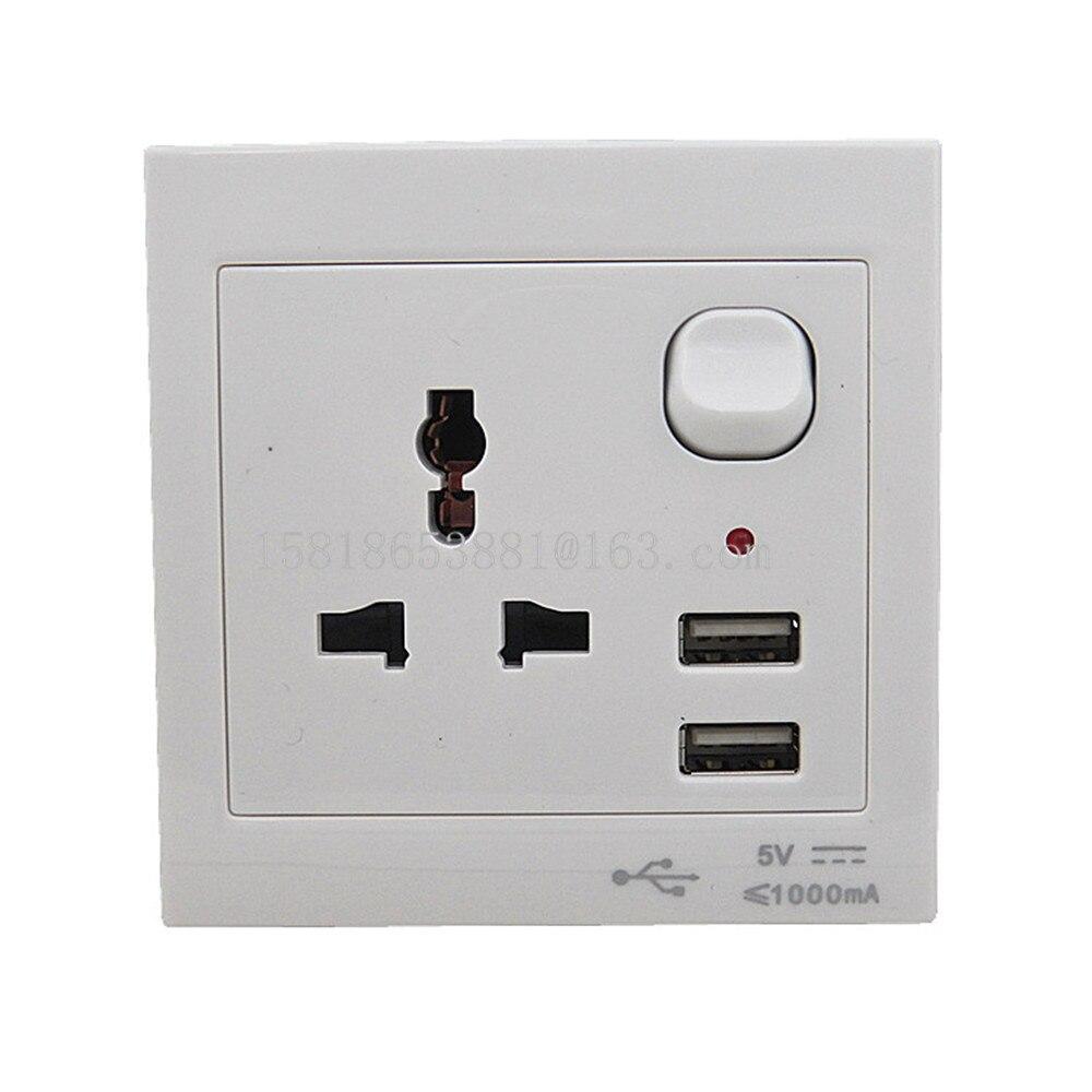 Us to uk ac power plug white black travel wall adapter plug converter - Home Eu Us Au Uk Universal Wall Face Plate Outlet Panel Powupply Socket Charging Plug Switch