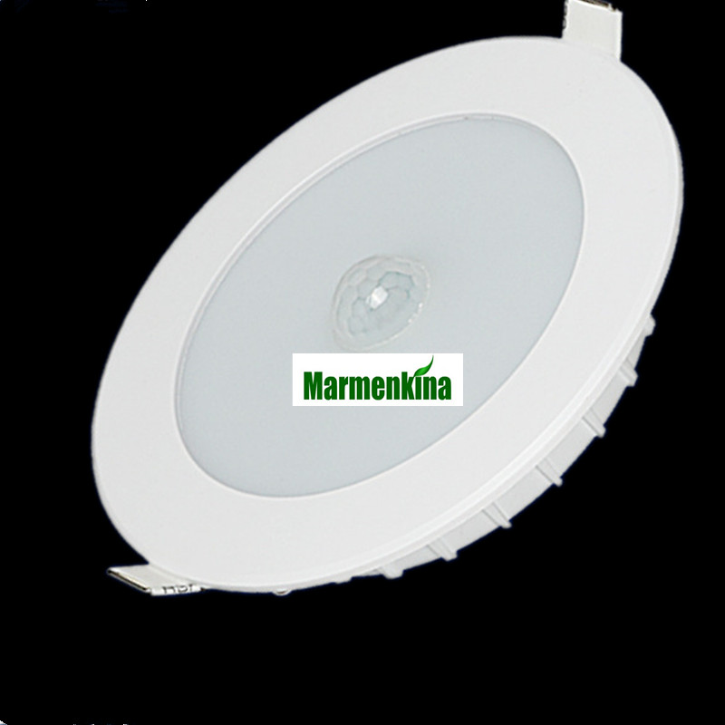 12W LED PIR Infrared Motion sensor downlights Bulb Recessed Ceiling Light Automatic AC 220V/230V/240V pir infrared motion sensor led tube light 220v ceiling lamp radar motion sensor 12w 15w 18w smd5730