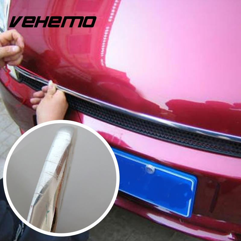 Vehemo 20mmx6500mm Car Auto Chrome Adhesive Sticky Detail Edging Moulding Strip