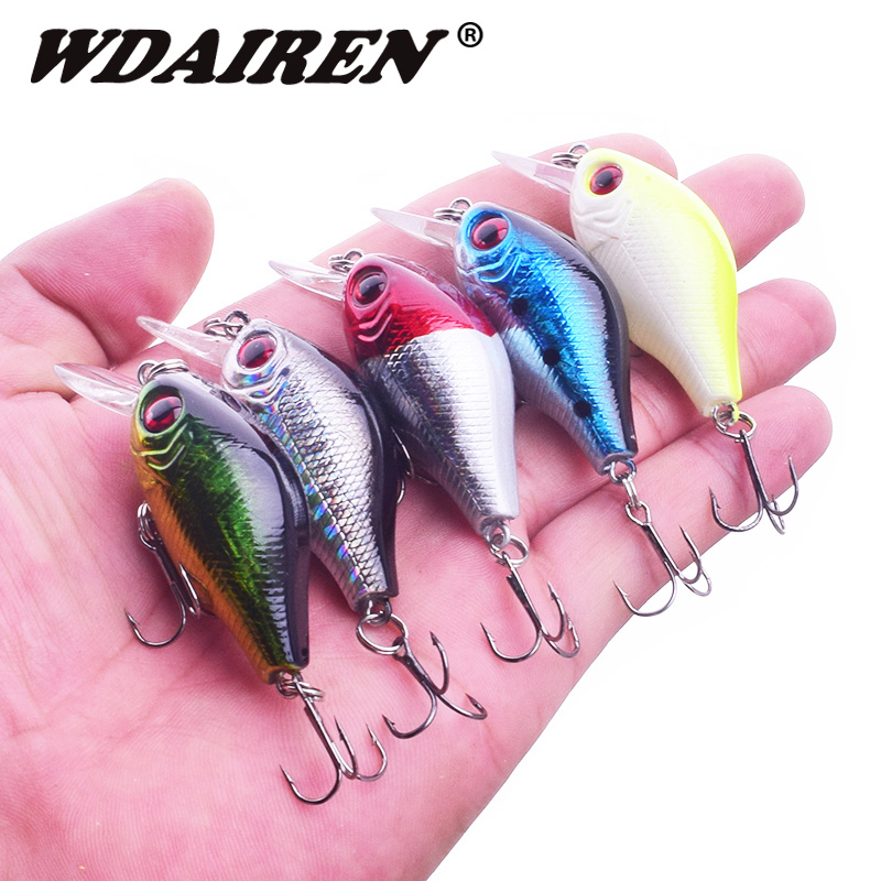1Pcs Topwater Fishing Lure 5.5cm 8g Winter Ice Lures Artificial Hard Bait Crankbait Wobblers Bass Pesca Fishing Tackle WD-204