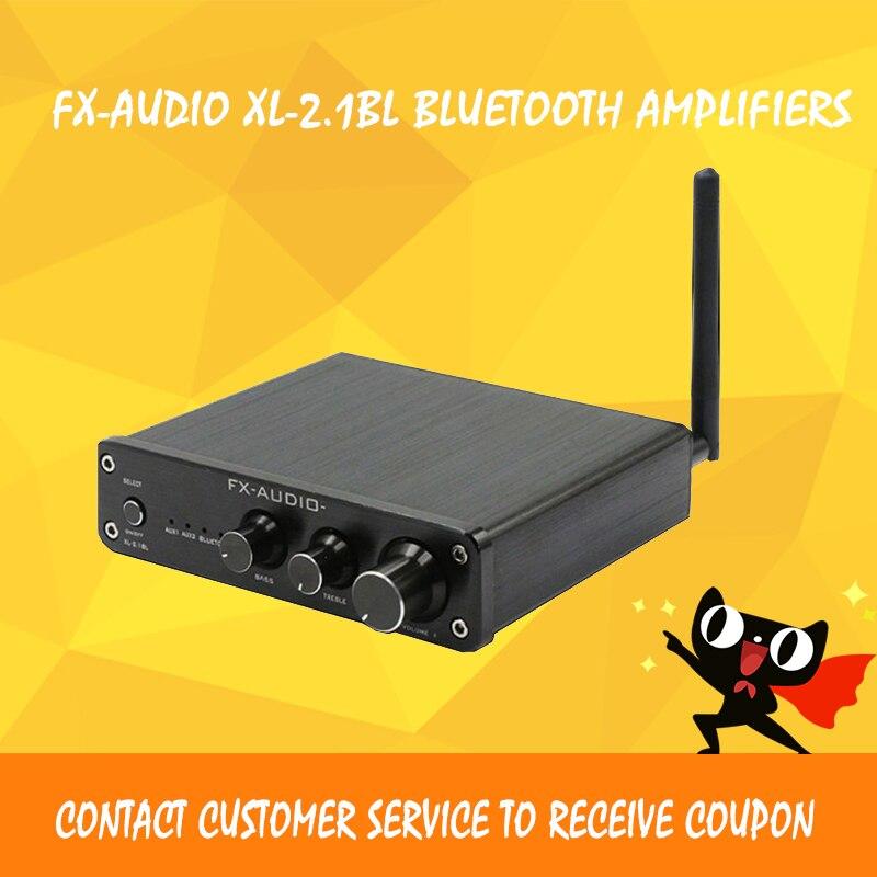 FX-AUDIO XL-2.1BL bluetooth amplifier hi fi 2.1 audio amplifier power amplifier amplificador audio ibt 08 bluetooth nfc hi fi audio receiver lossless amplifier box adapter black