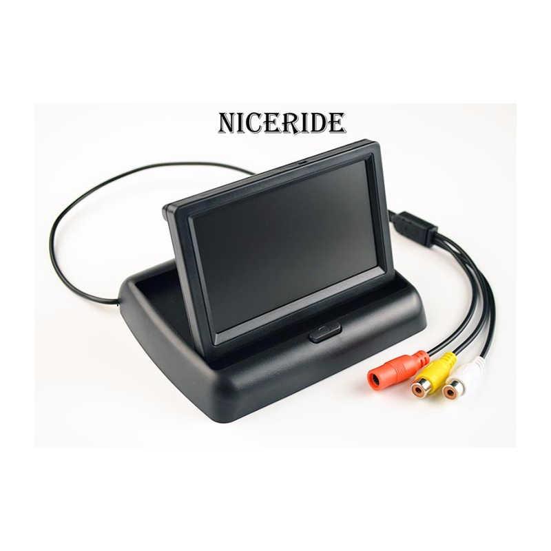 Автомобильная камера заднего вида с ночным видением, водонепроницаемая, 4,3 дюймов, HD, Автомобильное зеркало заднего вида, монитор, помощь при парковке