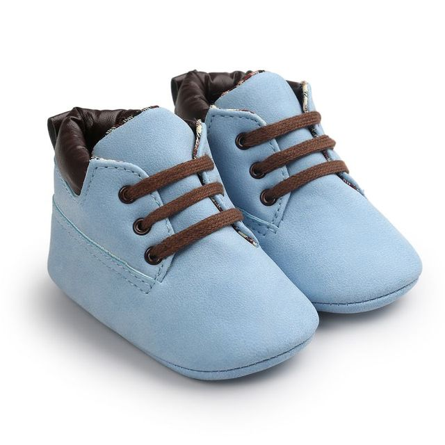 Infant Crib Shoes for Baby Boy made of Soft Sole PU Leather | Autumn Winter Collection 2017