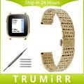 22mm Faixa de Relógio de Aço Inoxidável para Seixo Seixo 1 1st Gen tempo/butterfly buckle strap pulseira de pulso de aço preto ouro prata