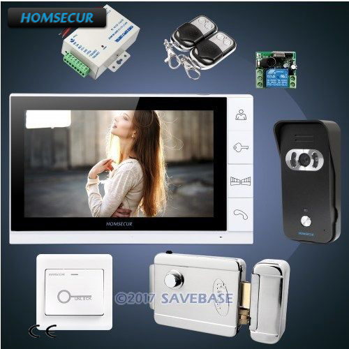 Homsecur 9 Video Door Entry Phone Call System With Black Camera
