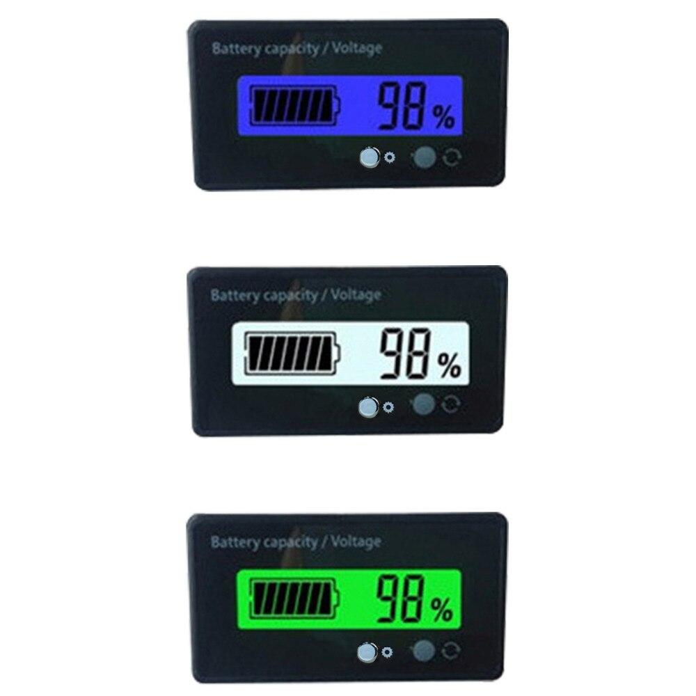 Lithium Battery Capacity Indicator Voltage Tester Power Meter LCD Digital Voltmeter for 12V/24V/36V/48V Acid Lead