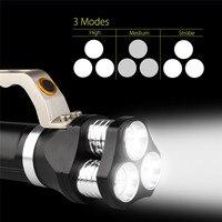 أضواء 9000lm أدى كشاف التكتيكية مضيا 3t6 قابلة للماء للدراجات دراجات دراجة رئيس الخفيفة m25