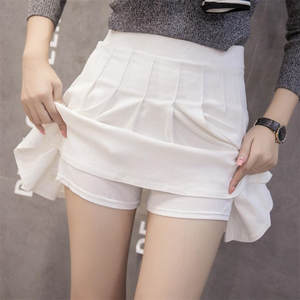 MINI Skirts Women Bust Girl's Student Empire Pleated 100pcs Above-Knee Wild Anti-Emptied