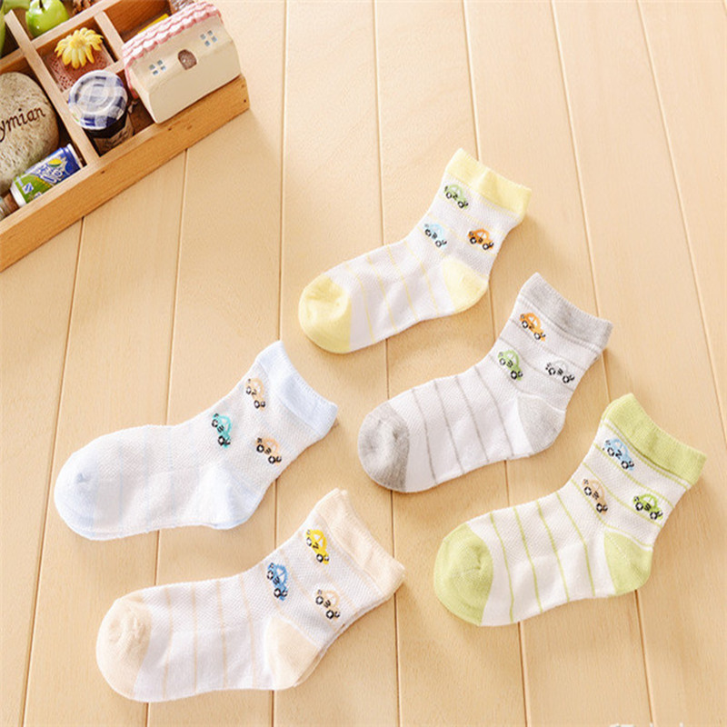 Girls Socks Hot Sale Character Boys 3pairs/lot Summer 2016 New Childrens Socks Thin Cotton Truck Models A-cll-006-3