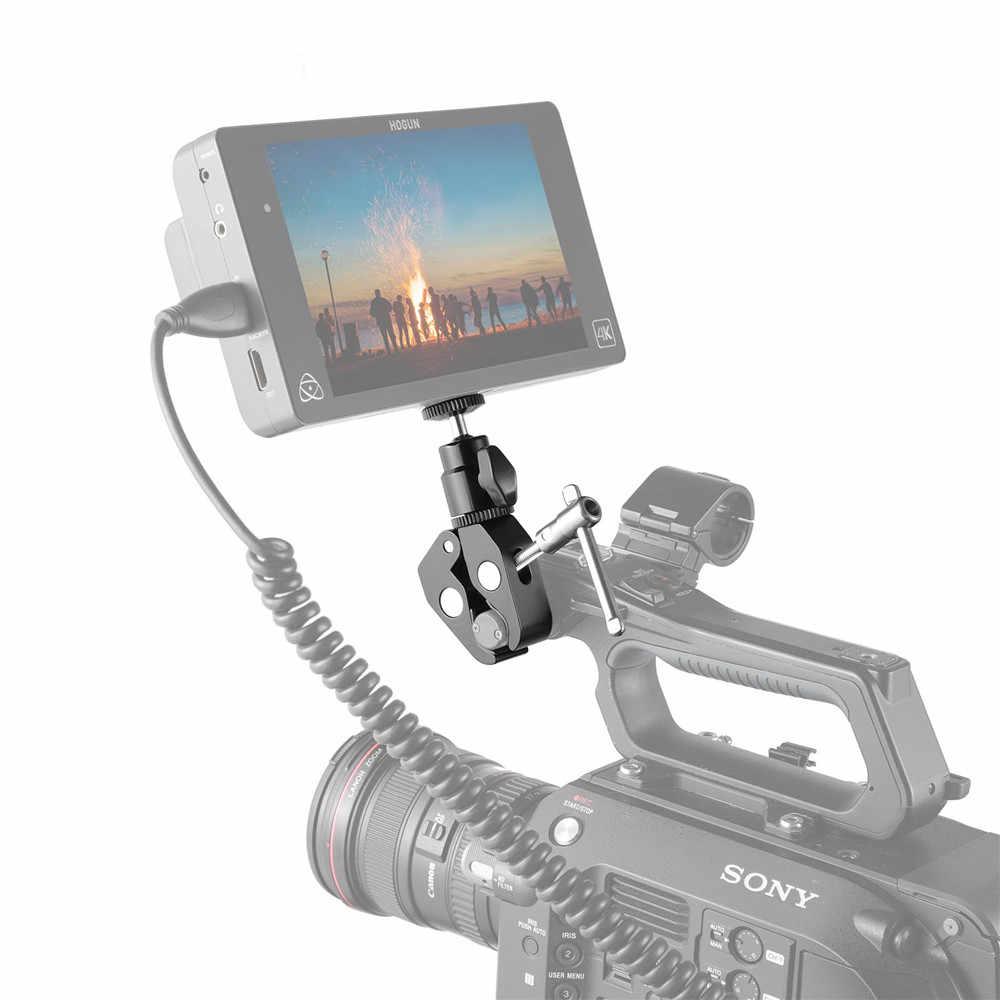 """SmallRig Quick Release mocowanie zaciskowe z 1/4 """"śruba kulkowa mocowanie głowicy Adapter gorącej stopki do ramka do kamery Dslr/Light/Hooks-1124"""
