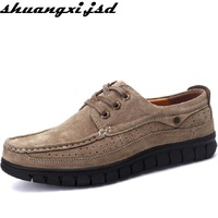 Men Loafers Pure Handmade Genuine Leather Shoe Autumn New Arrive Comfortable Top Quality Male Casual Shoes