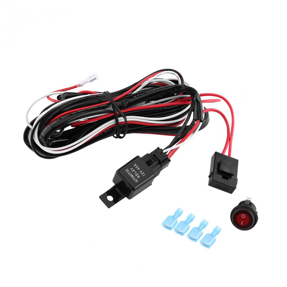 12v Red Led Light Bar On Off Rocker Switch Wiring Harness 40a Relay Standard Are Not Calibrated Same Item Color Displayed In Photos May Be Showing Slightly Different From The Real Object Please Take One As