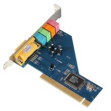 4 Канал 8738 Чип 3D Аудио Стерео PCI Звуковая Карта Win7 64 Бит