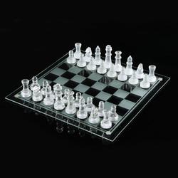 25*25cm Glas schach medium wrestling Verpackung Internationalen Schach Spiel Internationalen Schach Set