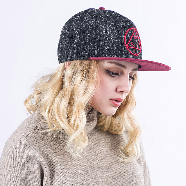 Quality Snapback cap NY round triangle embroidery flat brim baseball cap  youth hip hop cap and hat for boys and girls 0590d8f4338