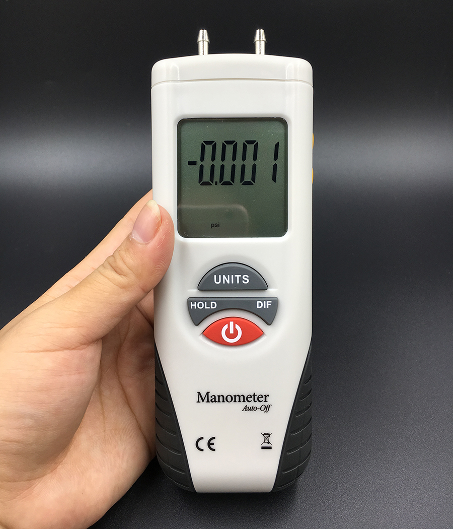 HT 1890 Digital Manometer Air Pressure Meter air pressure Differential Gauge High performance LCD 55H2O to +55H2O Data Hold