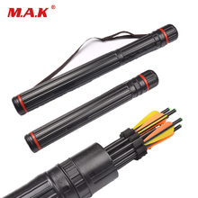 Multifunction Archery Tool 63-105 cm Bow Arrow Quiver Tube Back Shoulder Case Bag Hunting Accessories