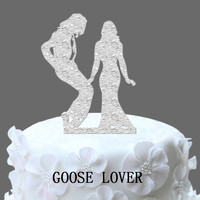 Michael Jackson Wedding Cake Topper Bride And Groom Silhouette Cake Topper Acrylic Cake Topper Funny And