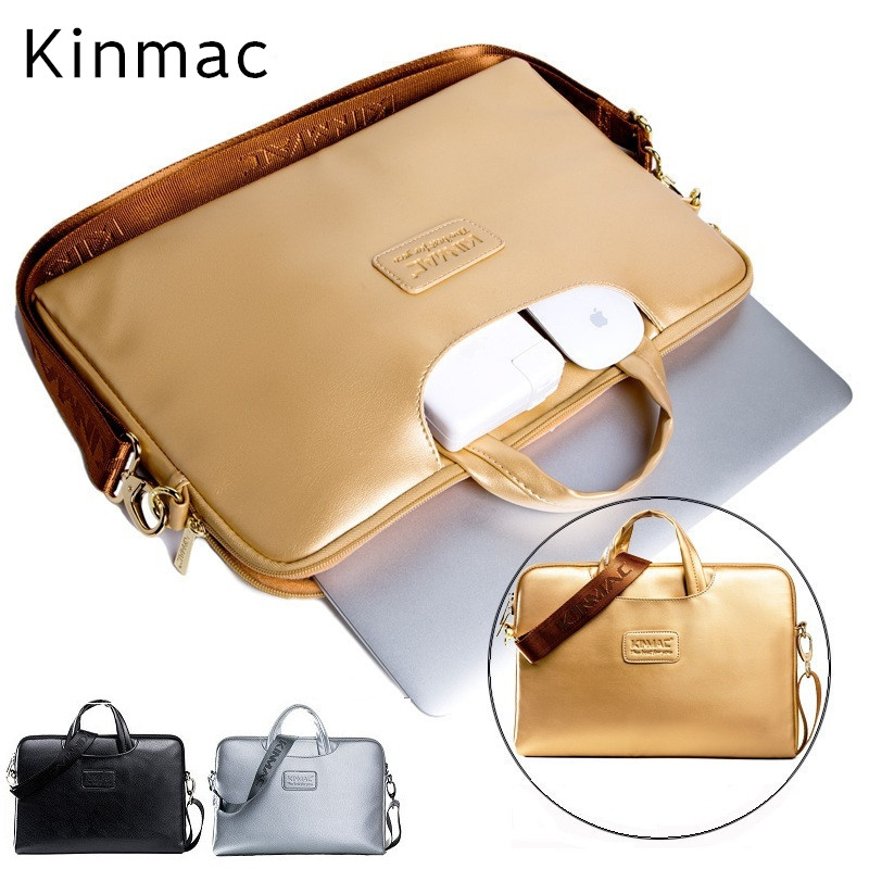 "2018 New Brand Kinmac PU Leather Bag For Laptop 13"",14"",15.6 inch, Messenger Case For MacBook Air,Pro 13.3"",15.4"", Free Shipping"