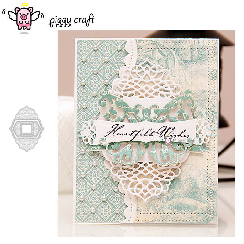 Lace flower metal cutting dies cut die mold Christmas background Scrapbook pape