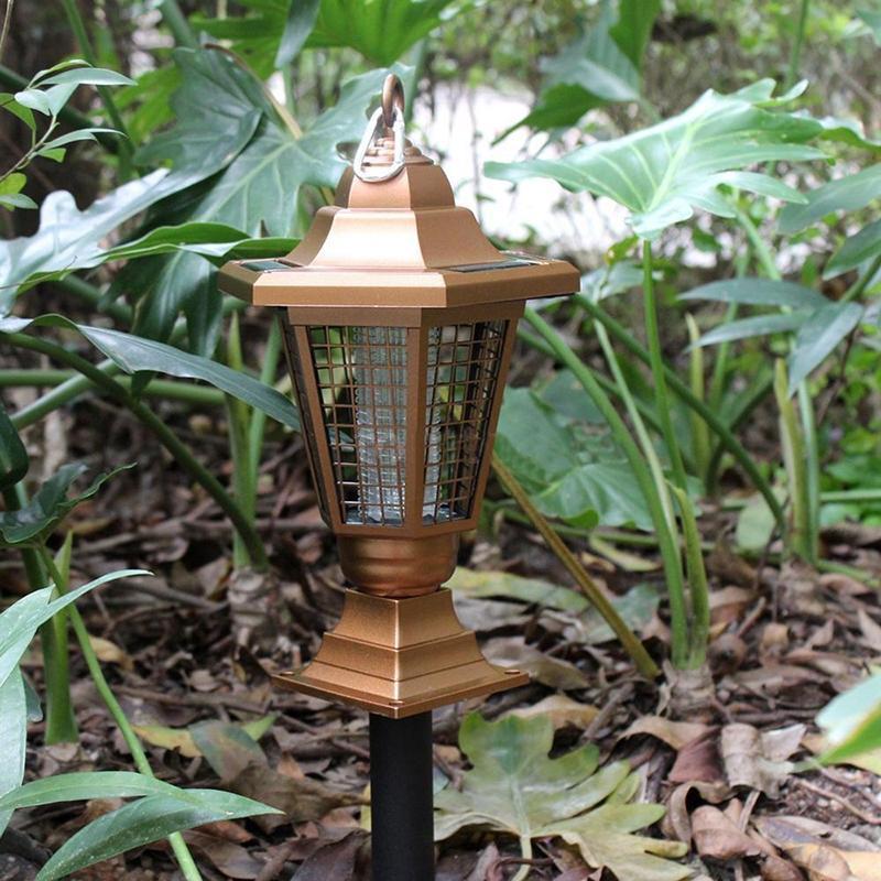LumiParty Солнечный Мощность Открытый Анти-москитные насекомых Zapper убийца повесить или Кола земли беспроводные свет сада