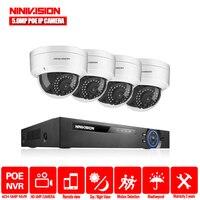 H.265 4CH 5MP 8CH 4.0MP POE NVR комплект CCTV система безопасности 5MP ИК купольная наружная POE IP камера P2P комплект видеонаблюдения 2 ТБ HDD