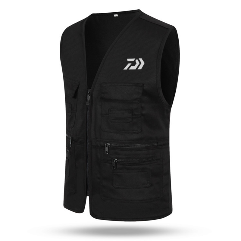 Free shipping DAIWA fishing vest Mens outdoor Multi-pocket fishing Clothes  Multifunction vest Overalls wear Photography VestsFree shipping DAIWA fishing vest Mens outdoor Multi-pocket fishing Clothes  Multifunction vest Overalls wear Photography Vests