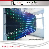 china supplier 2m by 4m led grow lights christmas lights guangzhou rgb flexible led curtain led video curtain