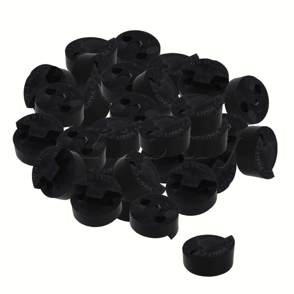 Yibuy Round Rubber Mute for 3/4-4/4 Violin Fiddle Black Sliding Mute