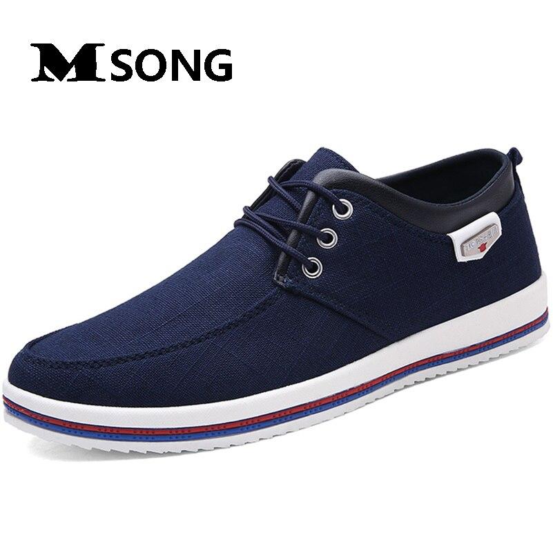 MSONG Más El Tamaño 45 46 47 zapatos de Lona Suela De Goma de Los Hombres Ocasio