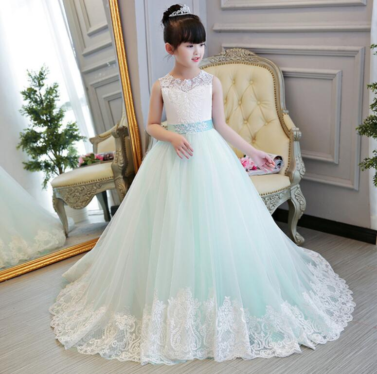 New Kids Pageant Evening Gowns Lace Ball Gown Flower Girl Dresses For Weddings First Communion Dresses HW2316New Kids Pageant Evening Gowns Lace Ball Gown Flower Girl Dresses For Weddings First Communion Dresses HW2316