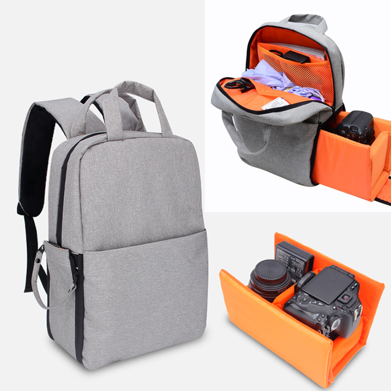 DSLR Camera Bag Shockproof Video Bag Backpack Shoulder Bag for Nikon Canon Pentax Sony Fuji Fujifilm Olympus with Rain Cover