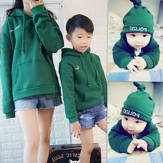 9e0c183c44 Mother and Daughter Clothes Family Look Matching Clothing Hoodies Mom Baby  Kids Sweaters Father and Son Clothes T Shirt Pajamas