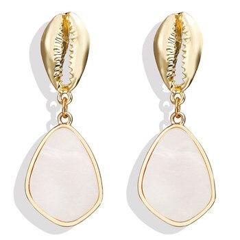 Geometric Shell Earrings For Women Earrings Jewelry Women Jewelry Metal Color: CS190705082