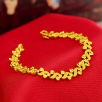 Womens Bracelet solid Yellow Gold Filled Chain Bracelet Accessories