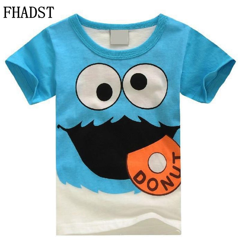 Girls Short-Sleeves Boys t-Shirts Baby Fashion Cotton Children Summer Casual Newest FHADST